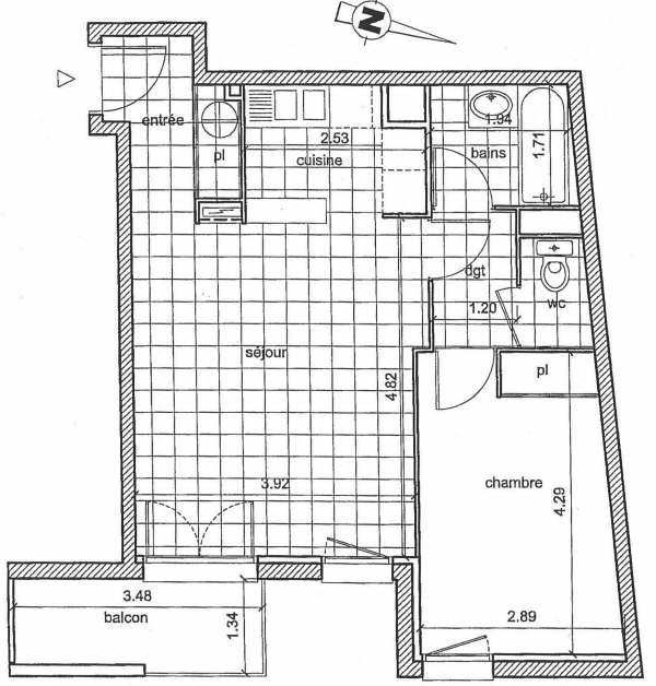Location appartement Toulouse 602€ CC - Photo 10