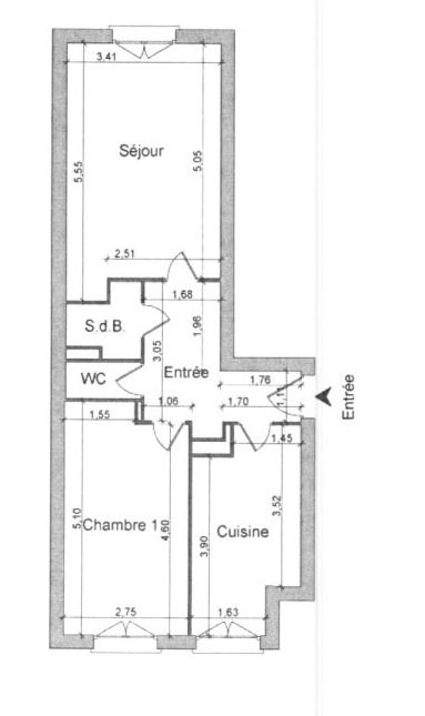 Sale apartment Grenoble 100000€ - Picture 1