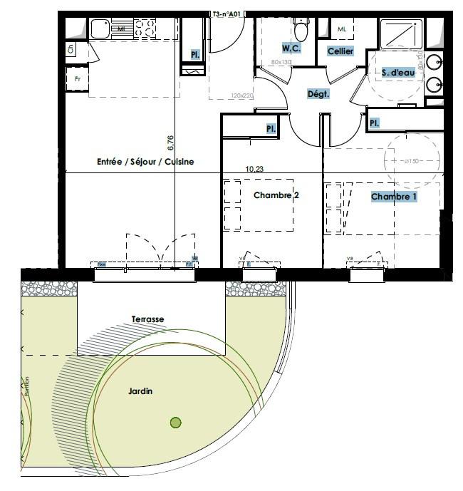 Sale building Blagnac 255000€ - Picture 2