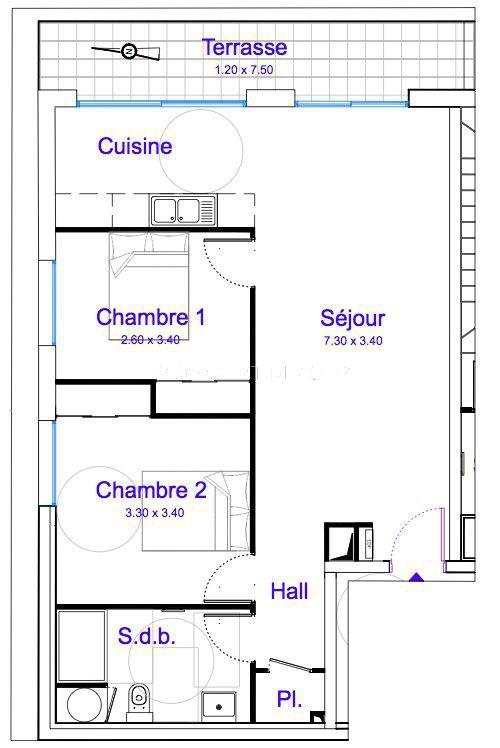 Vente appartement La gaude 280000€ - Photo 5