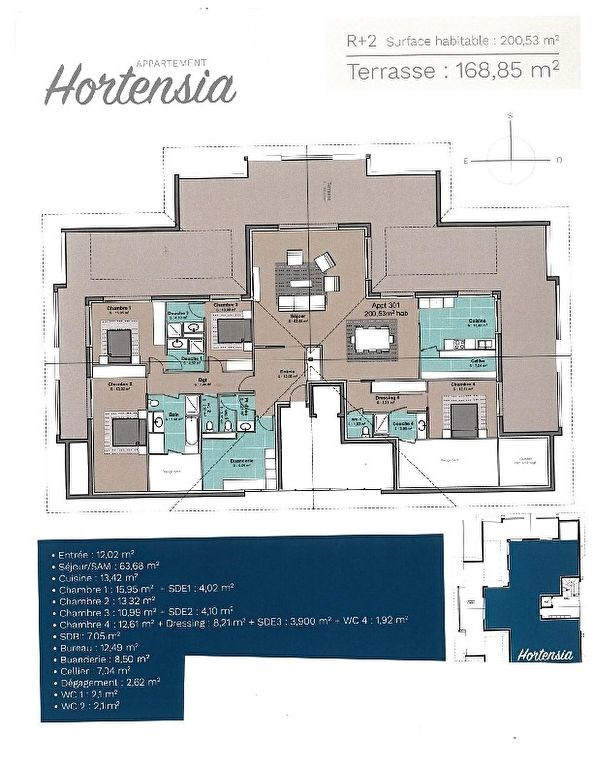 Deluxe sale apartment Hossegor 1950000€ - Picture 1
