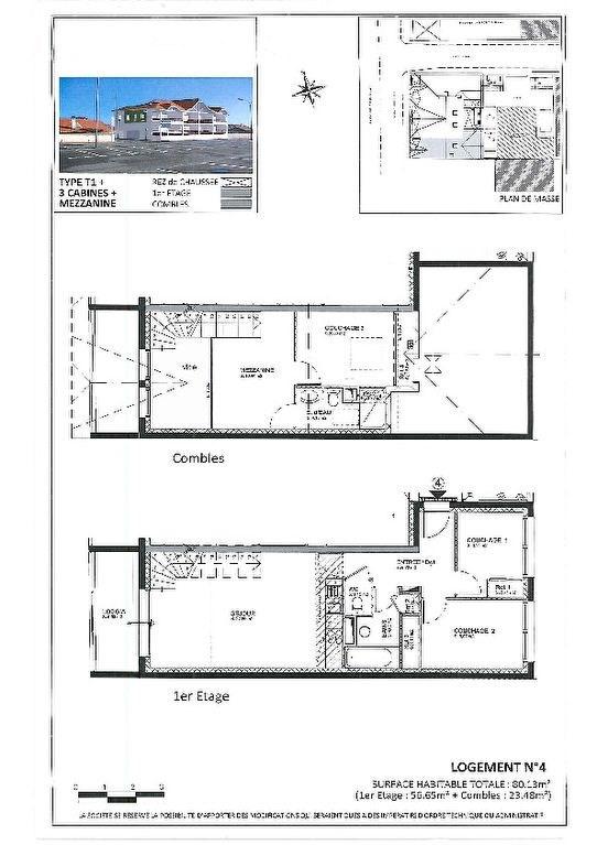 Verkoop  appartement Biscarrosse plage 330000€ - Foto 1