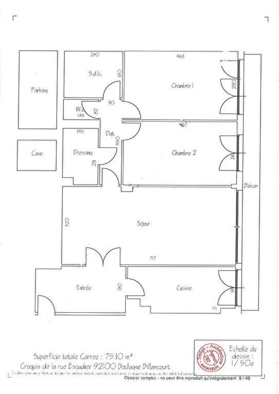 Vente appartement Boulogne billancourt 660000€ - Photo 2