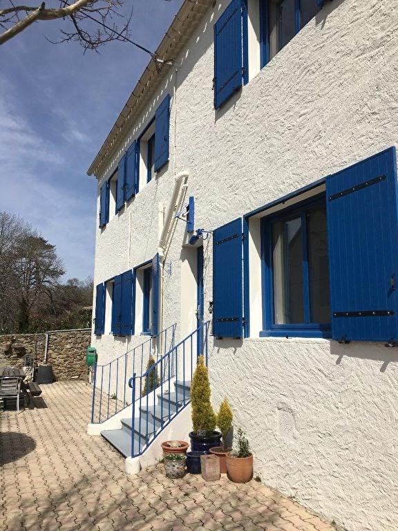 Vue Pyrénées pour cette belle maison de village avec jardin