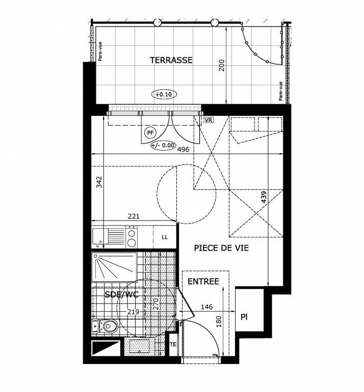 Vente appartement Maurepas 122000€ - Photo 1
