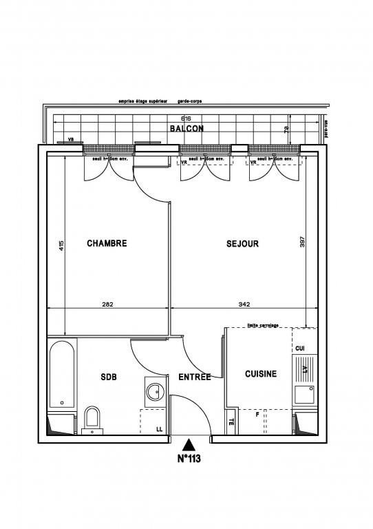 Vente appartement Bois-d'arcy 195000€ - Photo 1