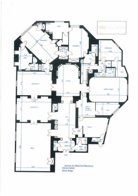 Престижная продажа квартирa Paris 16ème 8400000€ - Фото 13