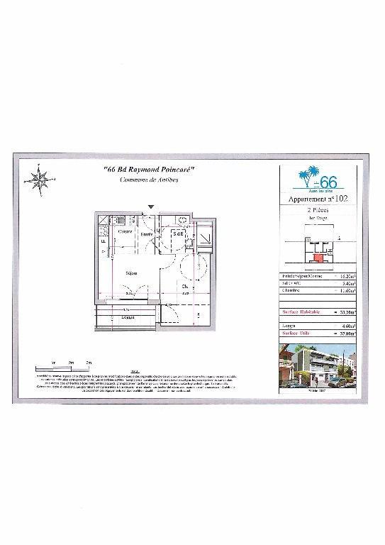 Vendita appartamento Antibes 172000€ - Fotografia 2