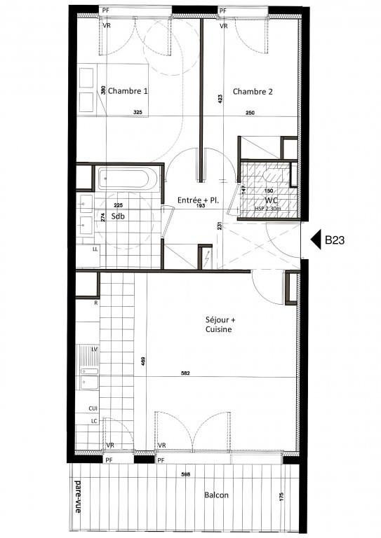 Vente appartement Saint-cloud 617000€ - Photo 1