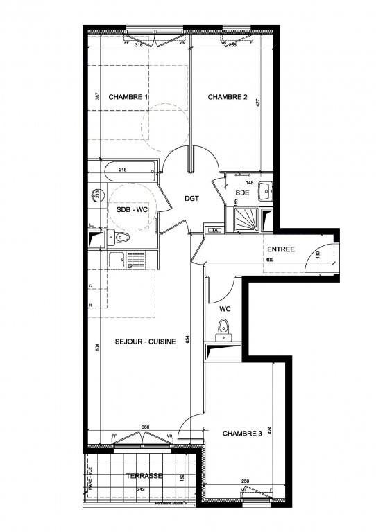 Vente appartement Chaville 448000€ - Photo 1