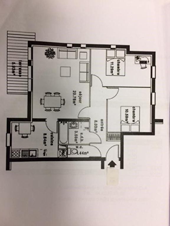 Investment property apartment Verneuil d'avre et d'iton 107500€ - Picture 3