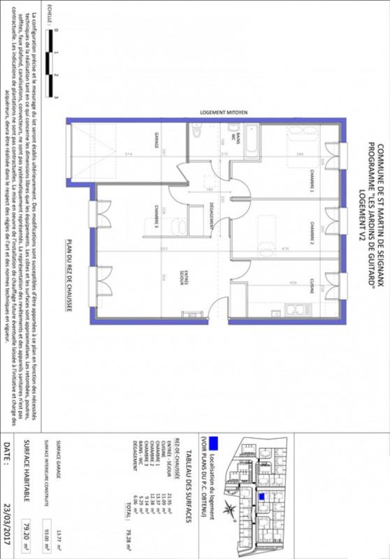 Sale house / villa St martin de seignanx 221715€ - Picture 3
