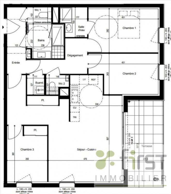 Vente appartement Vetraz monthoux 478000€ - Photo 2