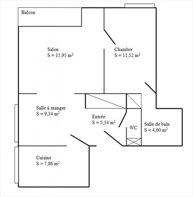 Vente appartement Poissy 169000€ - Photo 5