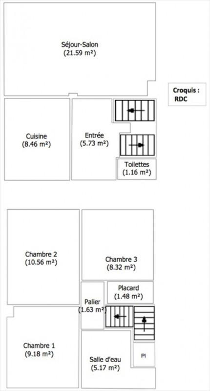 Sale house / villa Valenton 243000€ - Picture 10