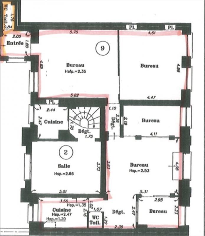 Location bureau Paris 9ème 3750€ +CH/ HT - Photo 2