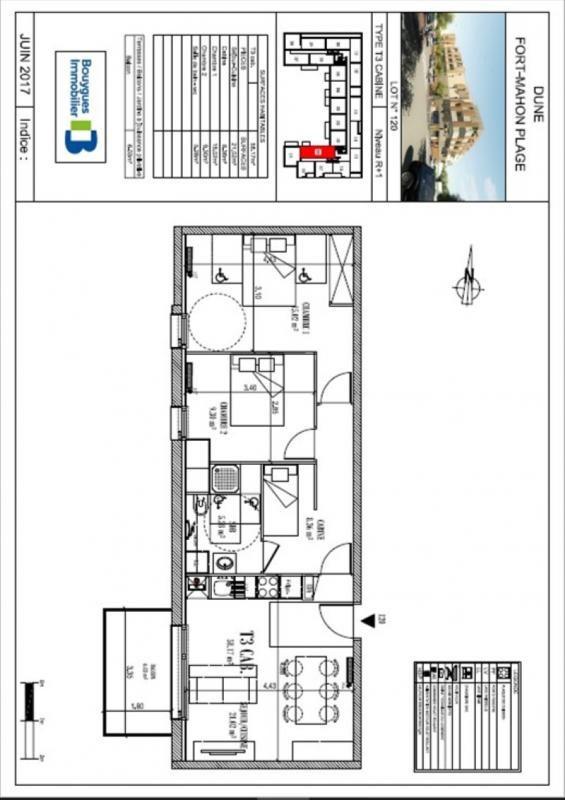 Vente appartement Fort mahon plage 201000€ - Photo 3