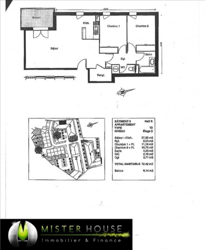 Verkoop  appartement Montauban 98000€ - Foto 2