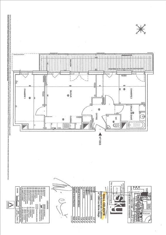 Rental apartment Courbevoie 1534€ CC - Picture 1