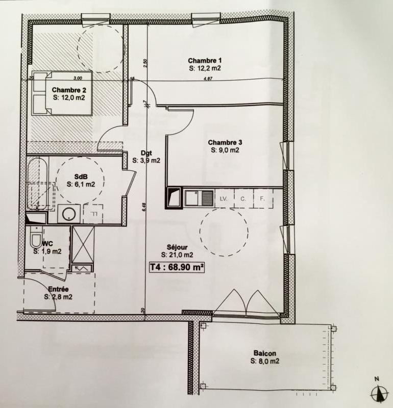 Venta  apartamento Schiltigheim 269000€ - Fotografía 10