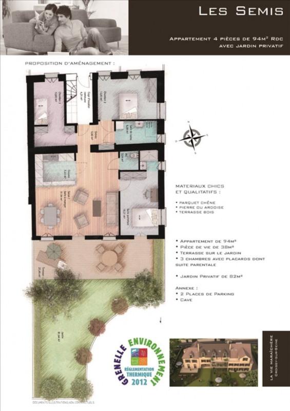 Vente appartement Croissy sur seine 606450€ - Photo 2