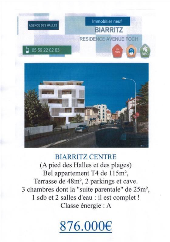 Venta de prestigio  apartamento Biarritz 876000€ - Fotografía 2