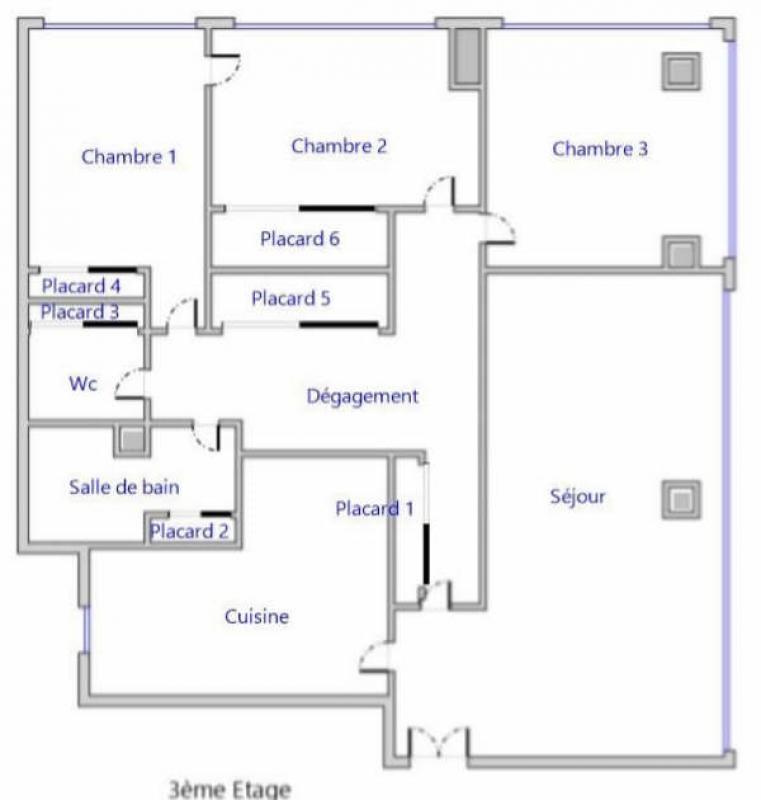 Venta  apartamento Boulogne billancourt 820000€ - Fotografía 3