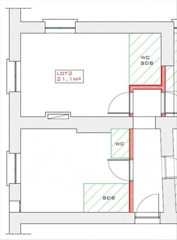 Venta  apartamento Lyon 1er 124000€ - Fotografía 2