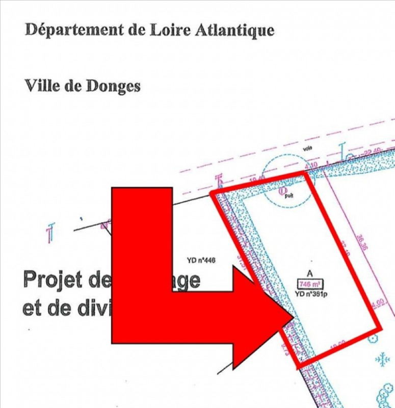 Vente terrain Donges 40 000€ - Photo 1