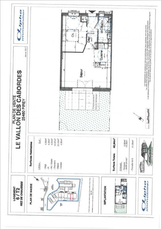 Sale apartment Pirey 126500€ - Picture 1