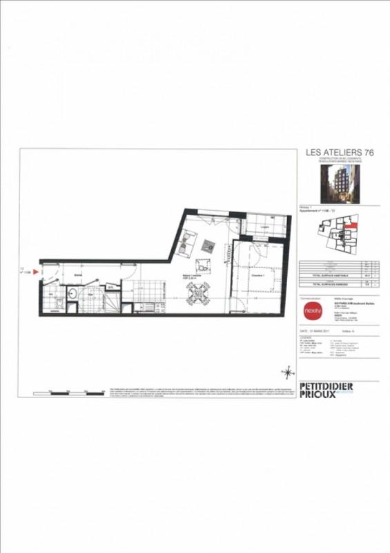 Produit d'investissement appartement Paris 18ème 415000€ - Photo 3