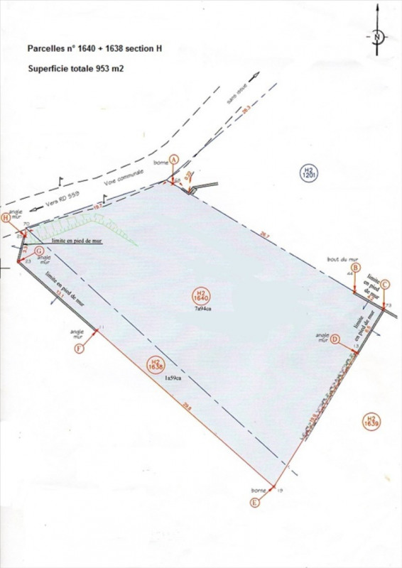 Vente terrain Ruoms 64200€ - Photo 3