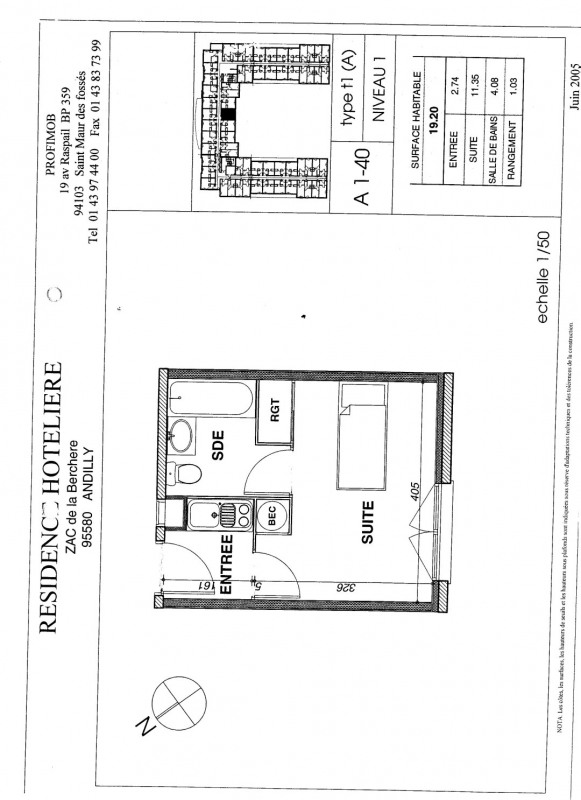 Sale apartment Andilly 45 000€ - Picture 1