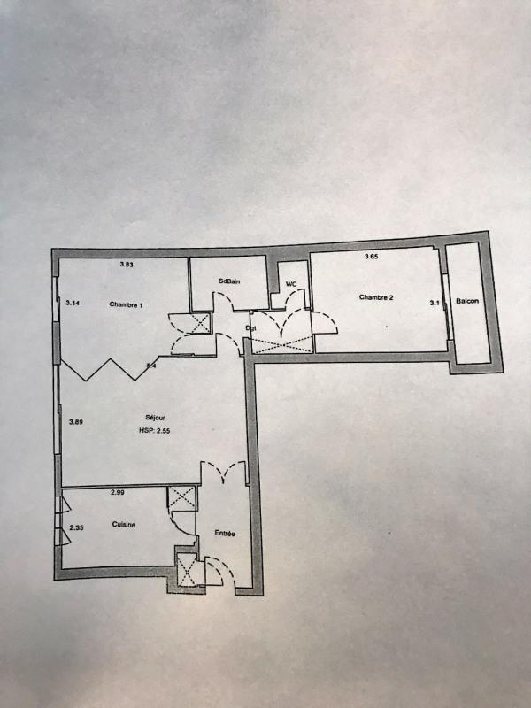 Vente appartement Paris 17ème 657000€ - Photo 1