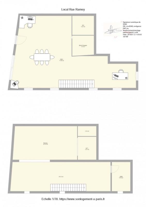 Sale loft/workshop/open plan Paris 18ème 944000€ - Picture 1