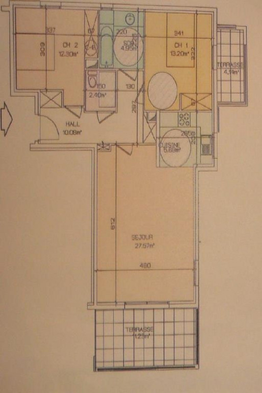 Sale apartment Ste maxime 526000€ - Picture 2