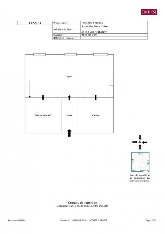 Rental apartment Villeurbanne 465€ CC - Picture 1