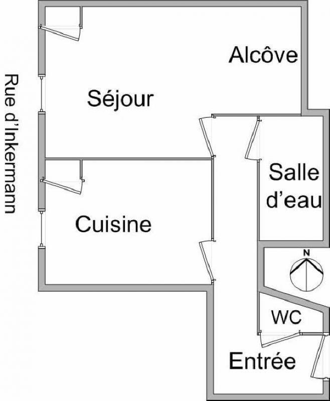 Rental apartment Villeurbanne 477€ CC - Picture 1