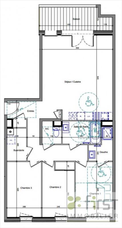 Vente appartement Annemasse 393000€ - Photo 2