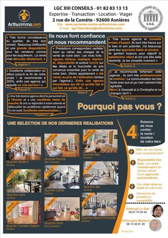 Vente appartement Asnieres sur seine 229500€ - Photo 7