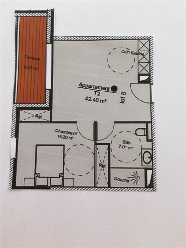 Venta  apartamento Charbonnieres les bains 228960€ - Fotografía 2