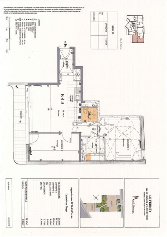 Rental apartment Asnieres sur seine 1346€ CC - Picture 2