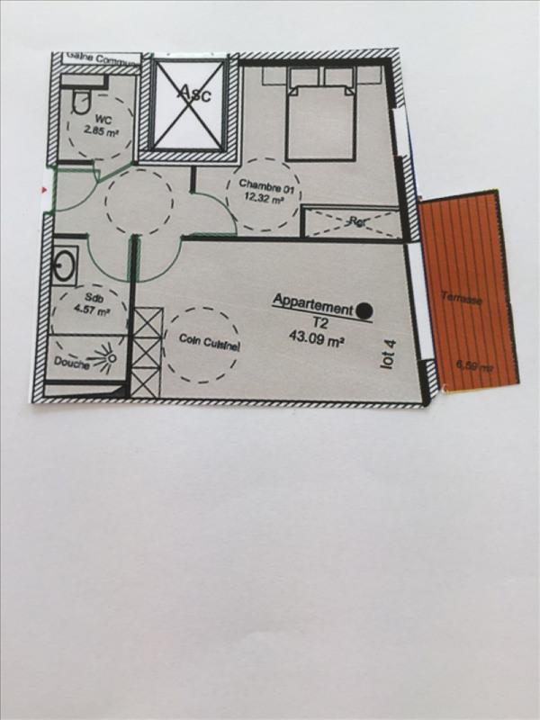Vente appartement Charbonnieres les bains 232686€ - Photo 1