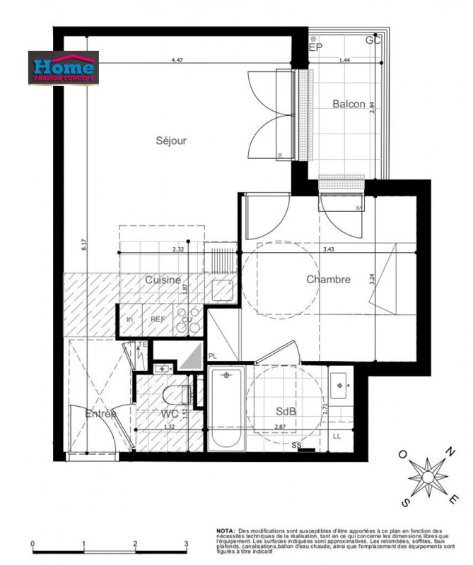 Vente appartement Rueil malmaison 322000€ - Photo 1