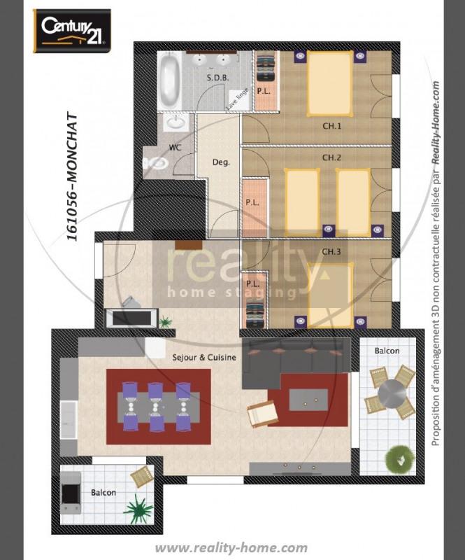 Vente appartement 4 pi ces lyon 3 me appartement f4 t4 4 pi ces 93m 395000 - Le bon coin vente appartement lyon ...