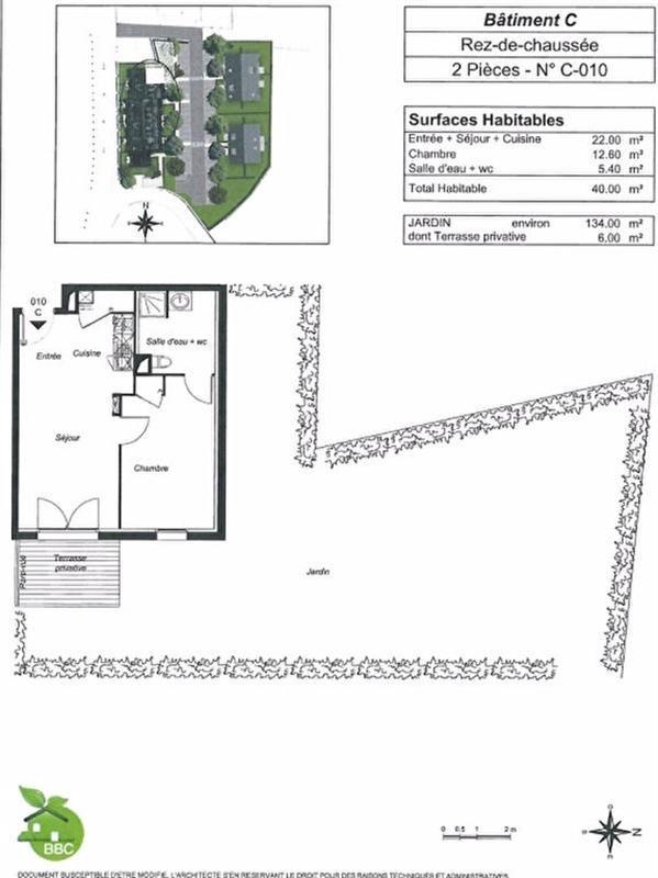 Rental apartment Pont l abbe 434,26€+ch - Picture 5