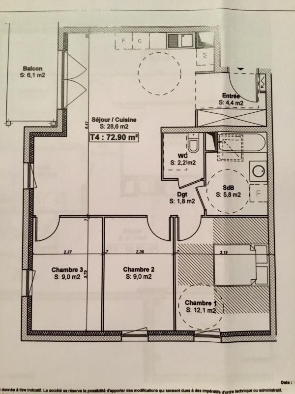 Venta  apartamento Schiltigheim 272000€ - Fotografía 11