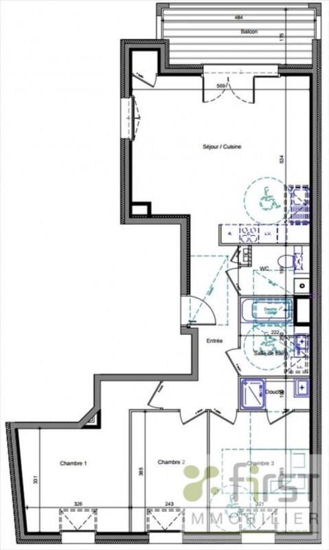 Sale apartment Annemasse 436000€ - Picture 2