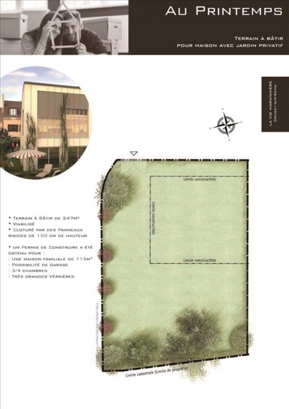 Vente terrain Croissy sur seine 380000€ - Photo 1