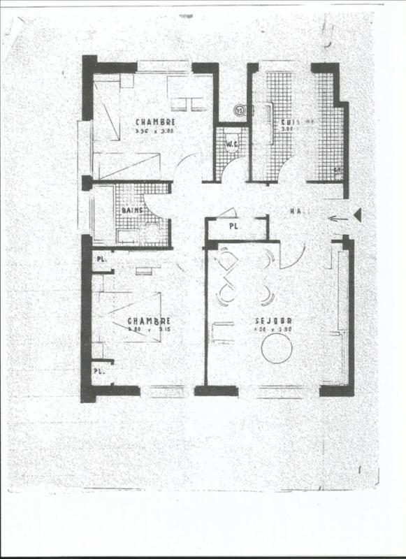Vente appartement Versailles 344000€ - Photo 1